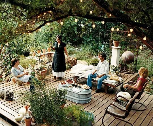 Create an easy outdoor living space in just one day real - Simple outdoor living spaces ...